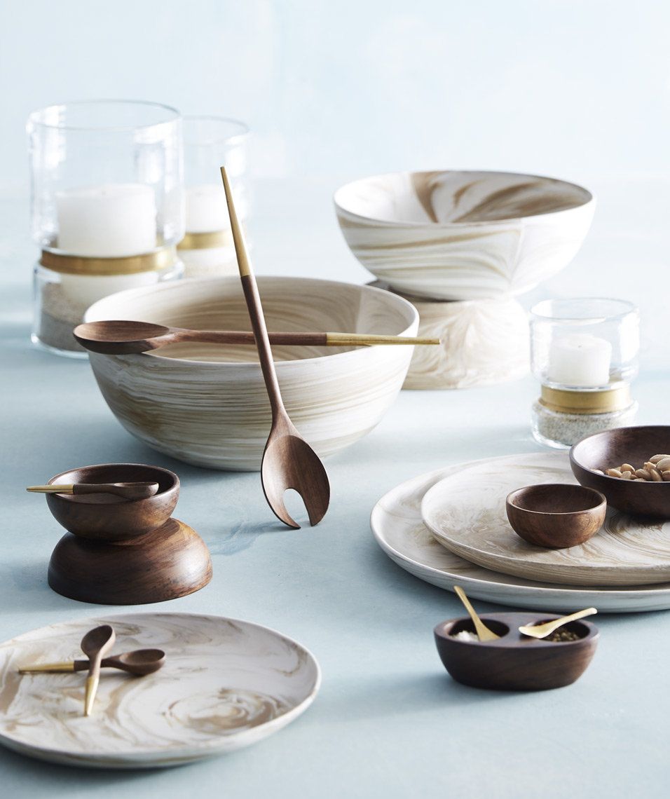 Brown and Cream Marble Clay Bowls Sean Dagen Photography
