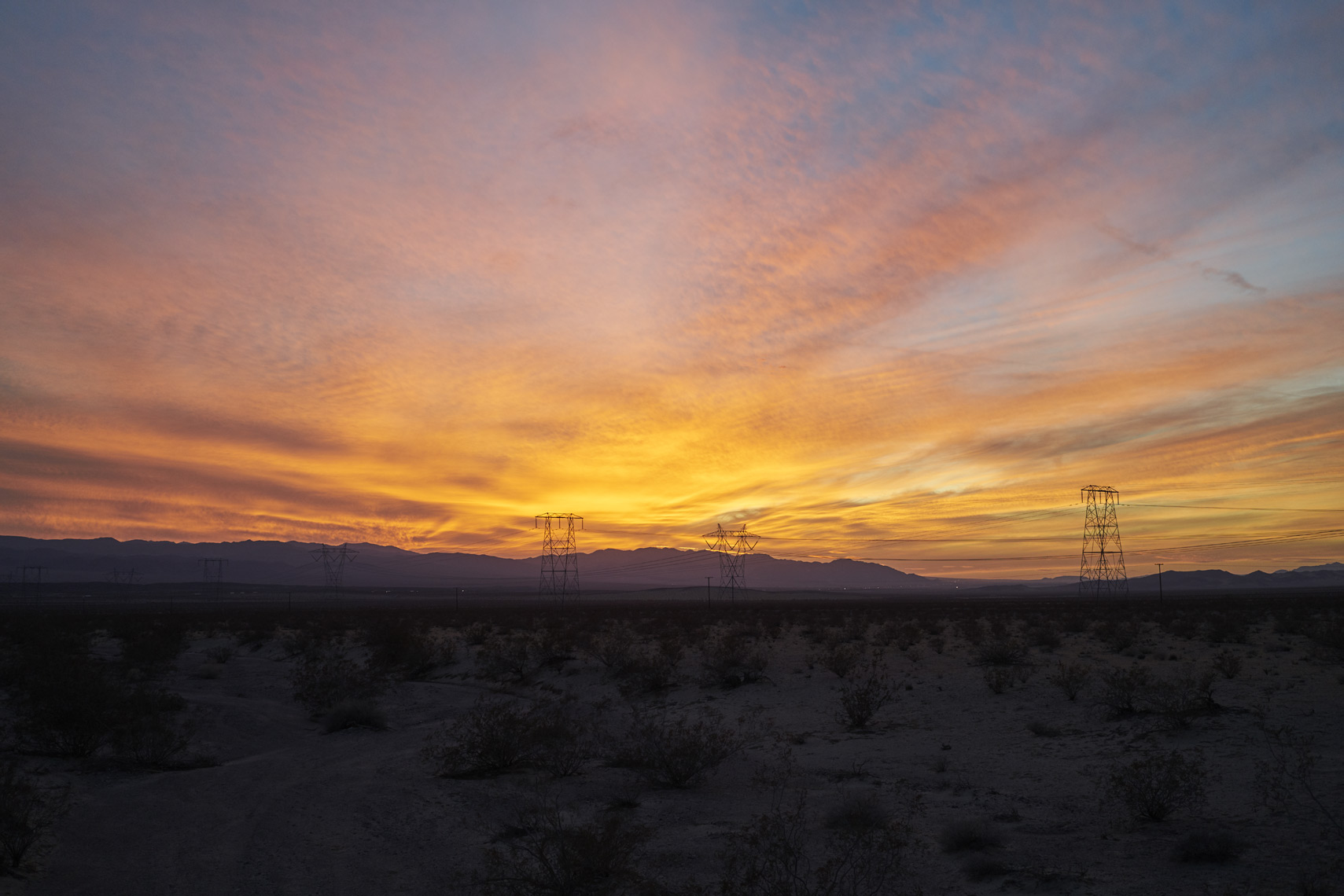 Sunset in Mojave National Preserve California Sean Dagen Photography