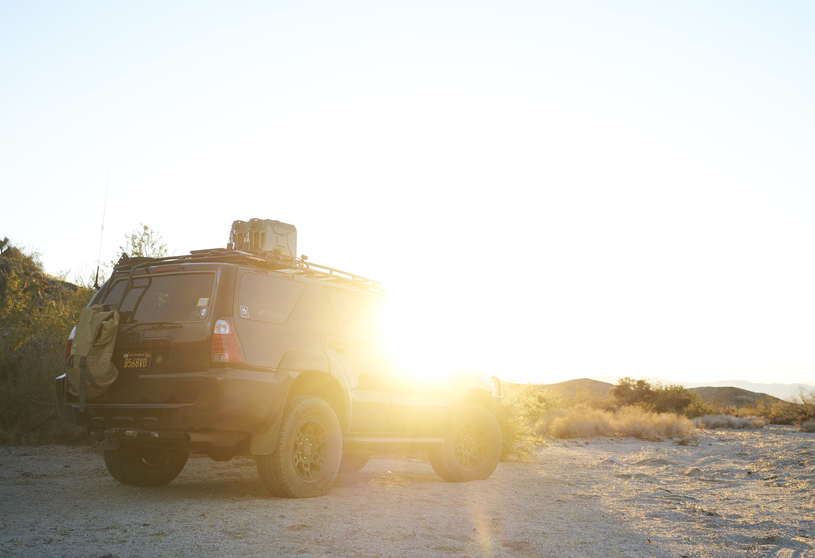 Toyota 4Runner at sunset on the Mojave Road Sean Dagen Photography