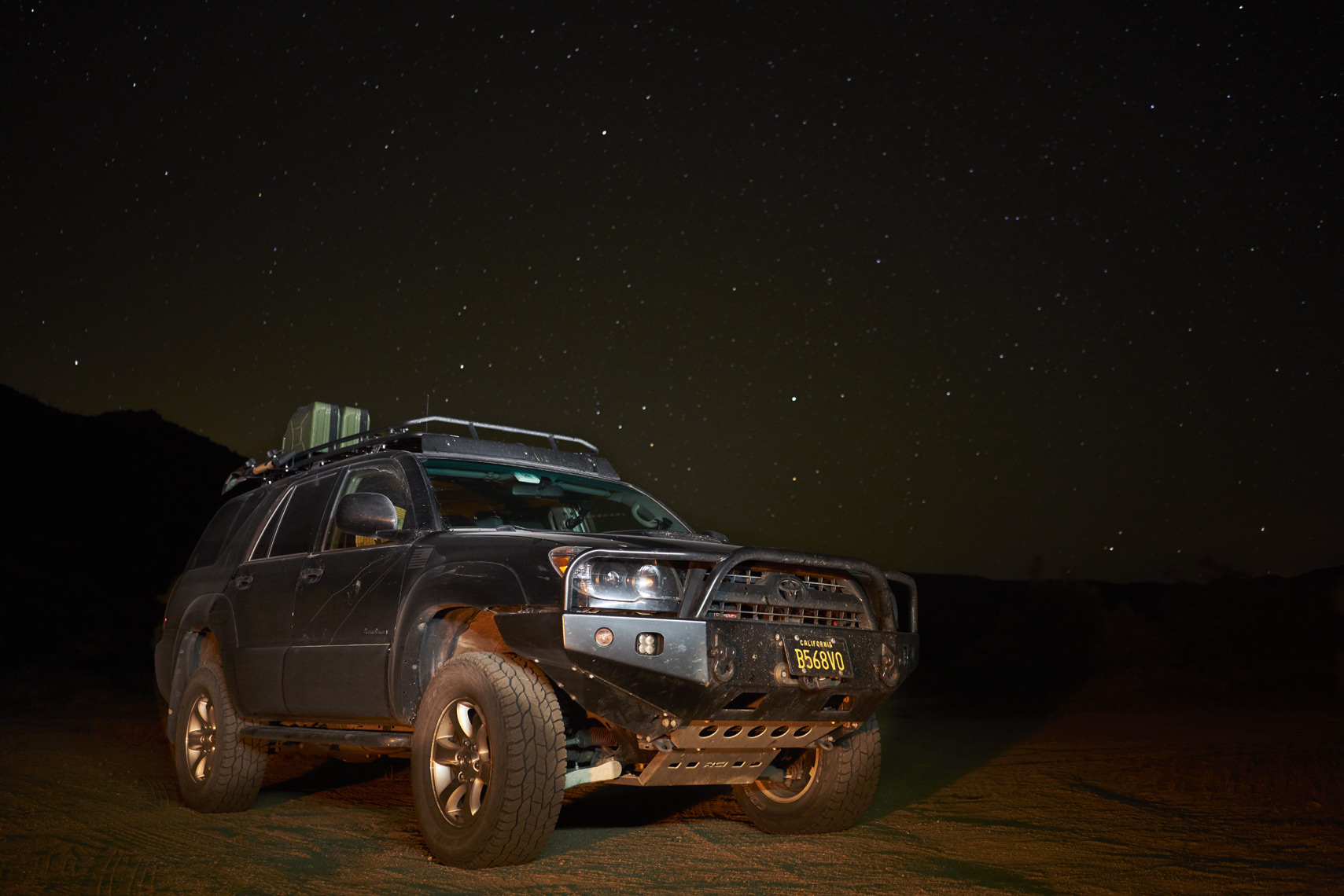 4Runner amongst the stars of the cosmos in Anza-BBorrego State Park California Sean Dagen Photography