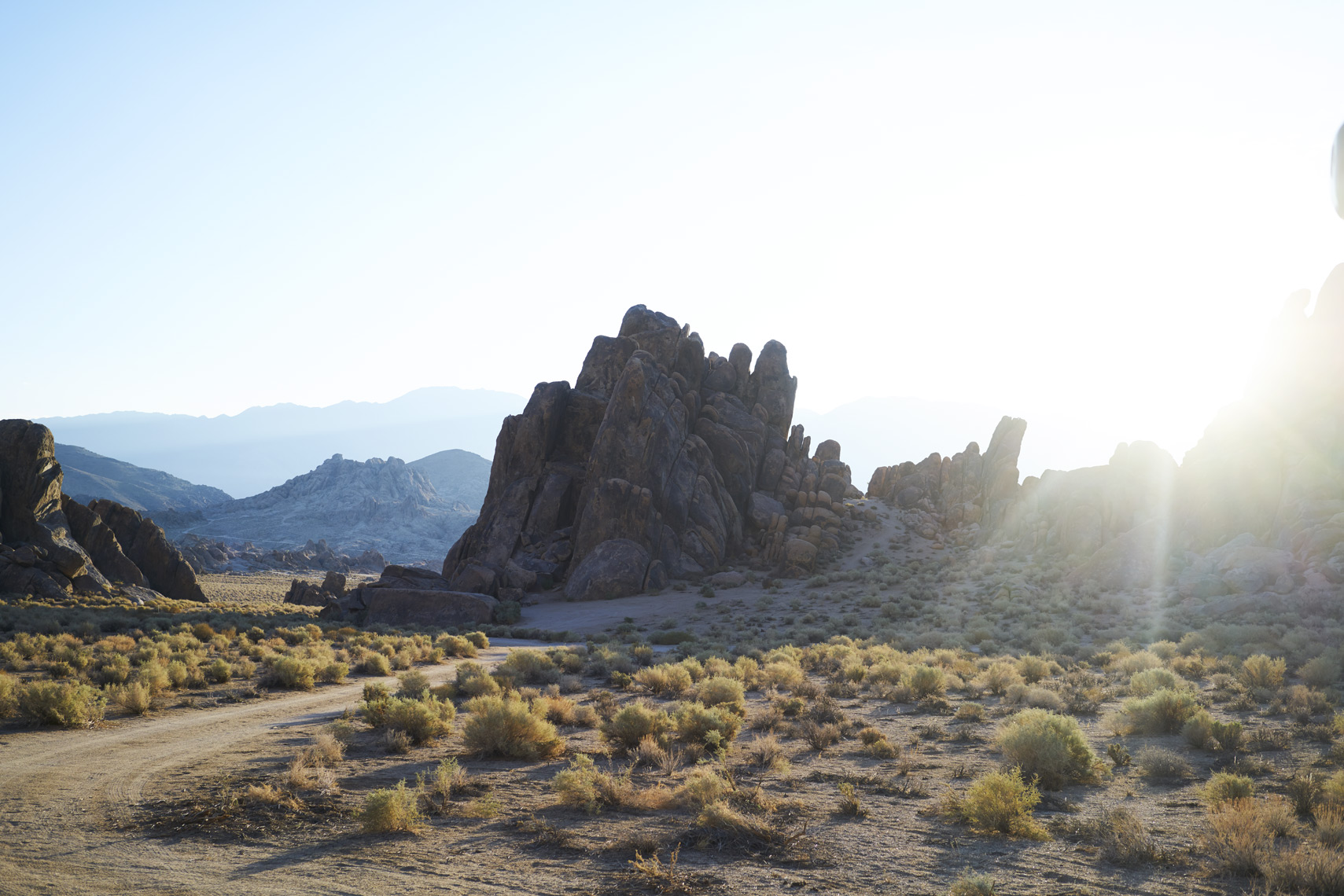 Desert Sunrise landscape showcasing rock formations in Alabama Hills, California Sean Dagen Photography
